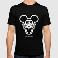 Mickey Duck Mens Fitted Tee Black SMALL