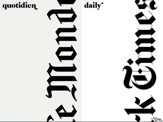 le journal Art Print