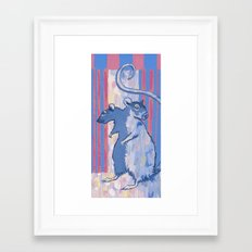 2-headed Rat Framed Art Print