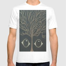 Who's There? Mens Fitted Tee SMALL White