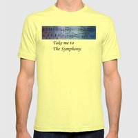 The Symphony Mens Fitted Tee Lemon SMALL