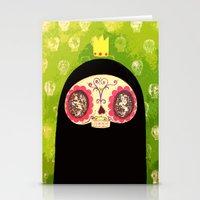 King Skull Guy Stationery Cards