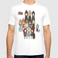 Finn The Human Admins Mens Fitted Tee White SMALL