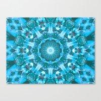 Blue Mandala Of The Ston… Canvas Print