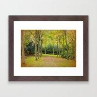 AUTUMN AVENUE Framed Art Print