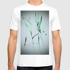 Water Reed Digital art 3D SMALL Mens Fitted Tee White