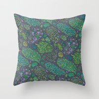 Nugs in Green Throw Pillow