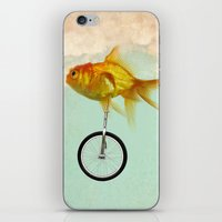 Unicycle Gold Fish -2 iPhone & iPod Skin