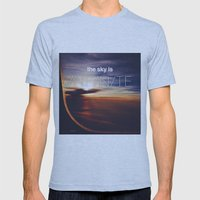 the sky is...  Mens Fitted Tee Athletic Blue SMALL