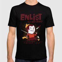 Enlist! Mens Fitted Tee Black SMALL
