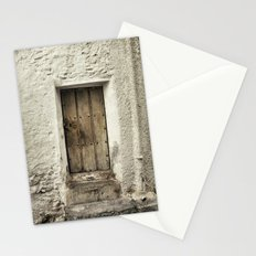 Retro door in mountains village Stationery Cards