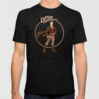Captain Tightpants Mens Fitted Tee Tri-Black SMALL