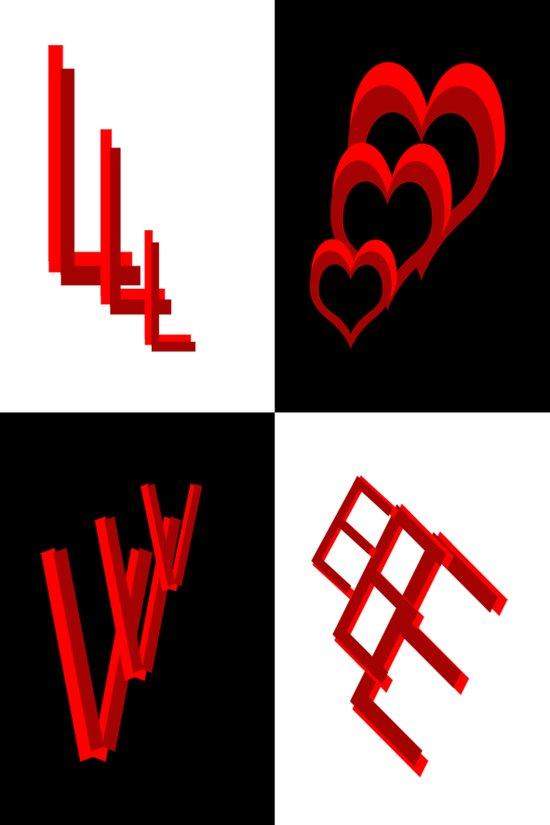 L O V E Typography 2 Art Print