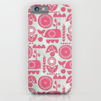 iPhone & iPod Case featuring folk whale by ottomanbrim