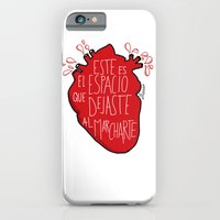 iPhone & iPod Case featuring Este es el espacio que dejaste al marcharte (this is the space you left) by Villaraco