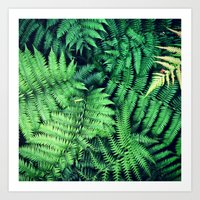 50 Shades Of Green (1) Art Print