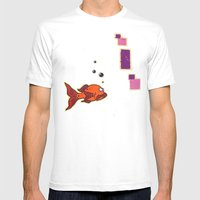 Lil' Orangy Mens Fitted Tee White SMALL