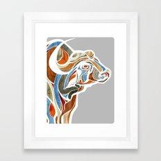 Cape Buffalo (technicolor) Framed Art Print