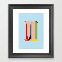 M Type Framed Art Print