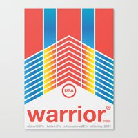 Warrior Single Hop Canvas Print