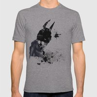 Dark Mens Fitted Tee Athletic Grey SMALL