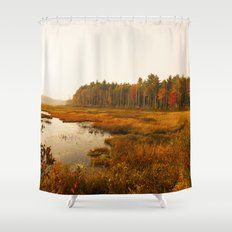 Autums Peaceful Tomorrow - New England Fall Landscape Shower Curtain