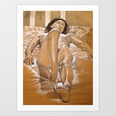 Figure Study of Nude Model, Firenze Art Print