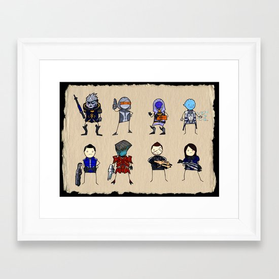 Mass Effect 3 Normandy Crew Framed Art Print