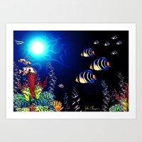 Deep Blue 3 Art Print