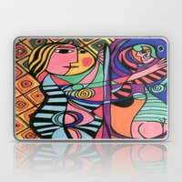Lady in the Mirror Laptop & iPad Skin