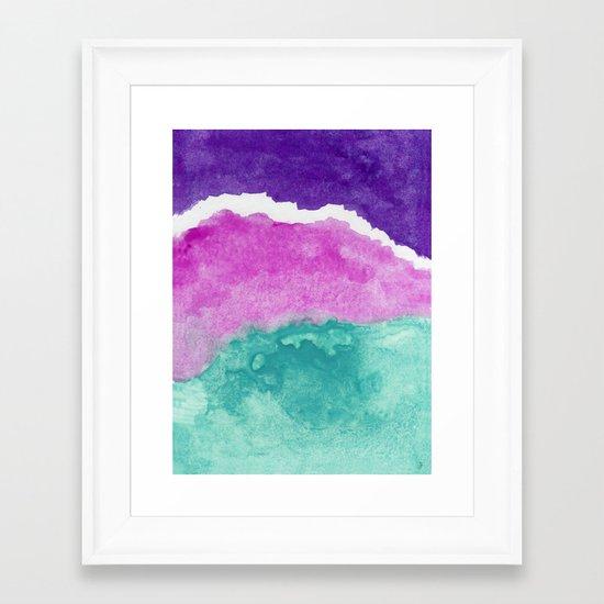 Mermaid Water Framed Art Print