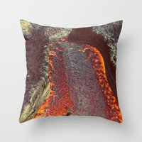 Active Volcano In Guatem… Throw Pillow