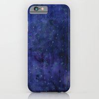 Galaxy Watercolor Texture Night Sky Stars iPhone 6 Slim Case