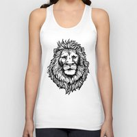 Lion (on dark) Unisex Tank Top