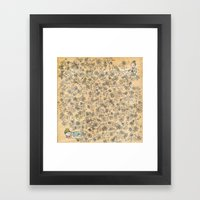 Sleeping Beau Framed Art Print