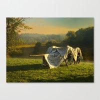 Civil War Canon And Limb… Canvas Print