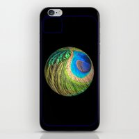 Peacock Eye And Sword Sp… iPhone & iPod Skin