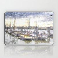 River Thames Boat Community Sketch Laptop & iPad Skin