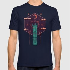 The Tower Azure Mens Fitted Tee Navy MEDIUM