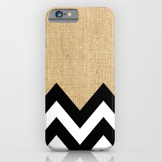 BURLAP BLOCK CHEVRON iPhone & iPod Case