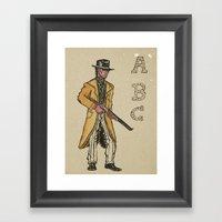A B Cowboy Framed Art Print