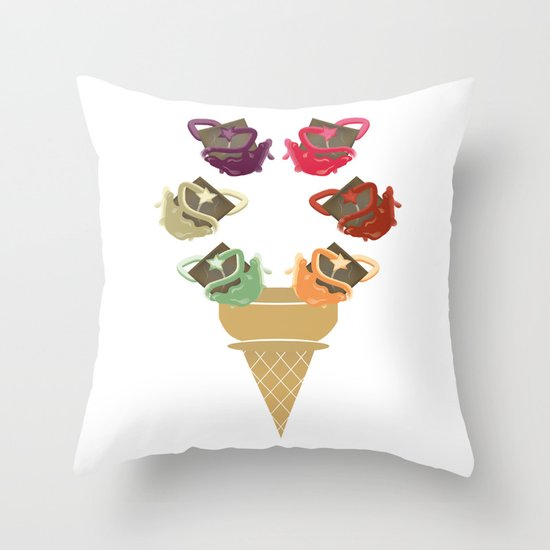 Chocolate Rippleboat Sundae  Throw Pillow