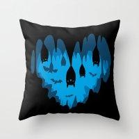 Bats Love Caves Throw Pillow