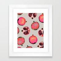 Pomegranate Pattern Framed Art Print