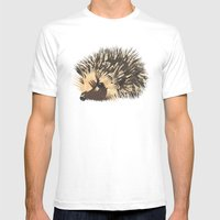 Little Hedgehog Mens Fitted Tee White SMALL