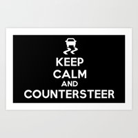 Keep Calm And Counterste… Art Print