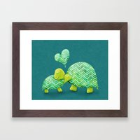 Turtle Hugs Framed Art Print