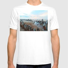 Water licks the Wharf's Remains Mens Fitted Tee White SMALL