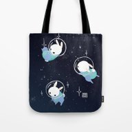 Space Bunnies Tote Bag