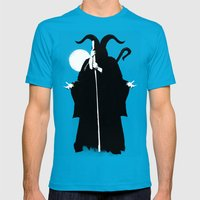 Death Mens Fitted Tee Teal SMALL